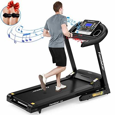 Famistar 3.5HP Folding Treadmill, 15% Auto Incline 300LBS Weight-Capacity Running Machine with Smart Shock-Absorbing System, 9.94 MPH, 12 Programs, Easy Assembly&Space Saving for Home Office Workout