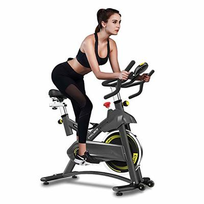 Cyclace Exercise Bike Stationary 330 Lbs Weight Capacity- Indoor Cycling Bike with Tablet Holder and LCD Monitor for Home Workout