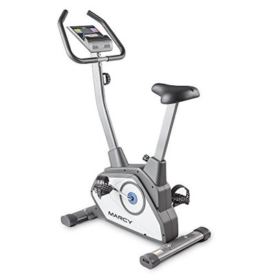 Marcy Magnetic Upright Bike With 8 Levels of Resistance NS-40504U,Grey