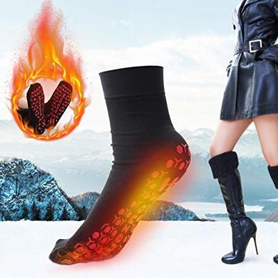 Lanyun Self-Heating Socks, Heated Socks for Women Men,Foot Warmers Tourmaline Socks,Comfortable Breathable Outdoor Socks,Winter Cold feet Camping Hiking Riding Motorcycle Warm Socks (A)