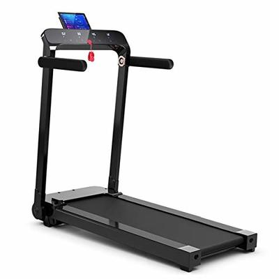 GYMAX Folding Treadmill, Free Installation Smart Digital Running/Walking Machine with LED Touch Display for Home Apartment (Black)