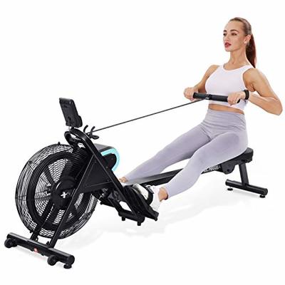 MaxKare Rowing Machine Foldable Rower for Home Use Air Resistance Adjustable with LCD Monitor & Pad Holder for Losing Weight and Increasing Strength Training Exercise at Home