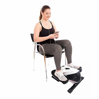 Mini Elliptical Machine with Non-Slip Pedal, Display Monitor and Adjustable Resistance.Mini Seated Exercise Equipment – Easy Setup.