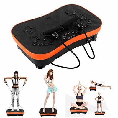 Vibration Platform Exercise Machines, Whole Body Vibration Plate with Bluetooth Speakers and LCD Display, Home Training Equipment for Weight Loss & Toning, Max User Weight 441 lbs (Orange)