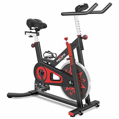 RELIFE REBUILD YOUR LIFE Exercise Bike Indoor Cycling Bike Stationary Bicycle with Resistance Workout Home Gym CardioFitness Machine Upright Bike