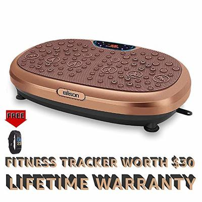 EILISON FitMax KM-818 3D Vibration Plate Exercise Machine with Loop Bands – Full Body Vibration Platform Machines for Home Fitness, Shaping, Training, Recovery, Wellness, Weight Loss (Jumbo Size)