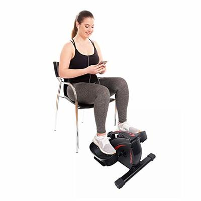 PCAFRS Mini Elliptical Machine with Non-Slip Pedal, Display Monitor and Adjustable Resistance.Mini Seated Exercise Equipment for Home Office Workout- Easy Setup.