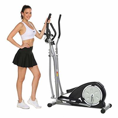 Aceshin Elliptical Machine Trainer Compact Life Fitness Exercise Equipment for Home Workout Offic Gym (White)