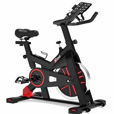 TRYA Indoor Exercise Bike Stationary, Belt Drive Cycling Bikes for Home with LCD Monitor & Ipad Mount (Black)