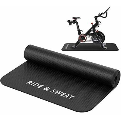 Naisi Heavy Duty Indoor Exercising Bike Mat Compatible with Peloton Bike and Bike +