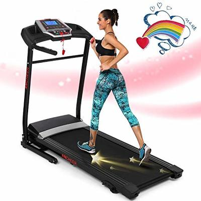 ANCHEER Folding Treadmill with Sports APP, 2.25HP Smart Electric Foldable Jogging Walking Running Machine with 3 Level Manual Inclines, Easy Assembly Exercise Machine for Home use