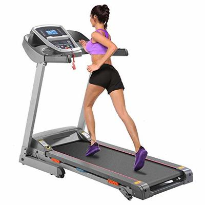 CAROMA Folding Treadmill with Incline Manual, 3.25hp Portable Foldable Treadmill for Home, Electric Treadmill Running Machine with Bult-in MP3 Speaker, APP Control, 300LB Weight Capacity