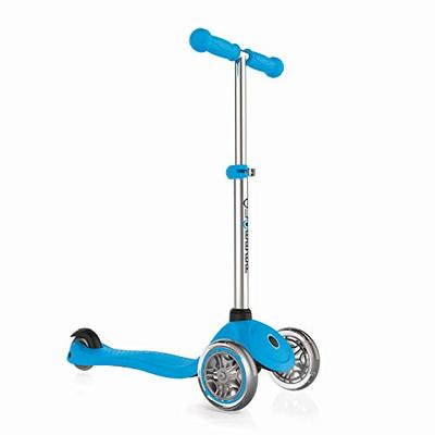 Globber – Primo 3-Wheel Kids Kick Scooter – Adjustable Height T-Bar – Comfort Handlebar Grips – for Boys and Girls