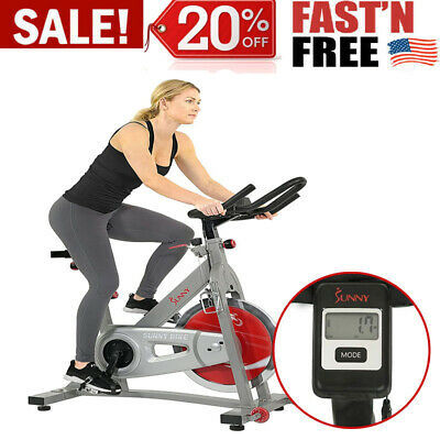 Indoor Cycling Bike With Device Mount And Advanced Display For Home Fitness Gym