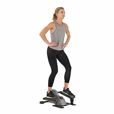 Sunny Health & Fitness Portable Stand Up Elliptical – SF-E3908, Gray